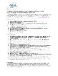 job duties of a receptionist for resume samples of resumes job description of dentist dental receptionist resume example slo