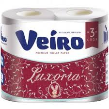 <b>Туалетная бумага</b> 3-х слойная <b>Veiro Luxoria</b> (4шт/уп*19.4м) белая ...