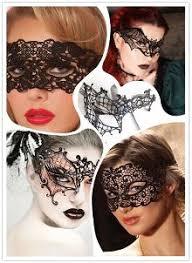 <b>Кружевная маска на</b> пол-лица, черная купить в интернет ...