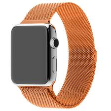 <b>Ремешок Krutoff</b> Milanese для Apple Watch 38/40mm (orange) G4 с ...