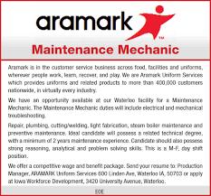 we are aramark uniform services employment wcfcourier com we are aramark uniform services