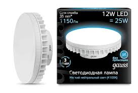 131016212 <b>Gauss LED GX70</b> 12W AC150-265V 4100K купить за ...
