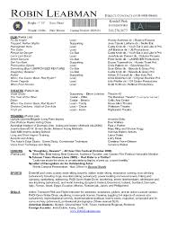 resume template  actors resume template word actors resume        resume template  robin leabman actor resume sample template word with fly by knight film experience
