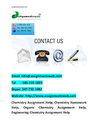 Your laboratory assistant is another person who you can look forward to offer chemistry homework help