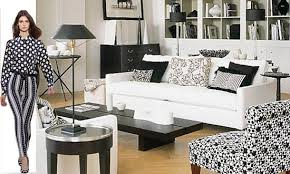 layered look black and white furniture