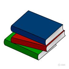 Free Stacked Books Clipart Image|Illustoon