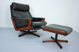 leather swivel chairs ottoman vintage