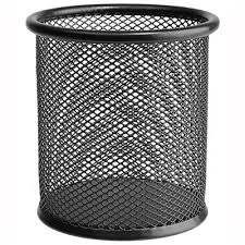 "<b>Подставка</b>-<b>стакан</b> Erich Krause ""<b>Steel</b>"", сетчатый металл, круглый ..."