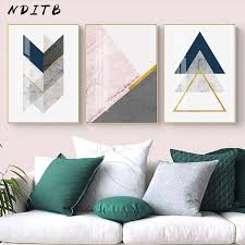 NDITB <b>Geometric</b> Marble Polygon <b>Abstract</b> Posters <b>Minimalist Wall</b> ...