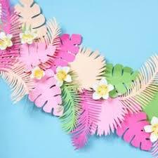 <b>3M</b> Tropical <b>Flamingo</b> Leaves Banner Flower <b>Garland</b> Paper Flag ...