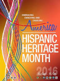 hispanic heritage month  poster middot hispanic heritage