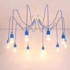 13 colors industrial vintage pendant lights edison lamp adjustable diy art pendant lamp 4 cable pendant lighting