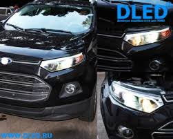 <b>Передние фары</b> для Ford EcoSport 2013-2015.