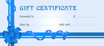 business gift certificates for all events professional gift certificate for ms word
