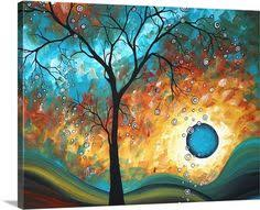 Hand painted modern <b>abstract money tree</b> canvas wall art oil ...