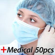 Profession <b>Medical Mask 50 Pcs</b> / Pack <b>Medical</b> Surgical 3 Ply PM ...