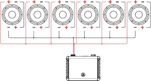 dual voice coil dvc wiring tutorial jl audio help center six dual voice coil speakers in series parallel