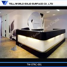 tw artificial stone solid surface china ce approved office furniture reception desk