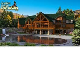 Golden Eagle Log Homes  Floor Plan Details  Log Mansion ALLog Mansion AL Floor Plan   Rendering