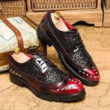 <b>men</b> formal shoes leather <b>luxury brand</b> dress office italian brogue ...