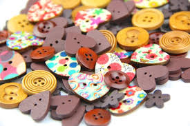 40g various color and shapes <b>2 holes Wood</b> Buttons package for   Etsy