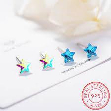 earrings in sterling <b>silver</b> with <b>crystal swarovski</b> — купите {keyword ...