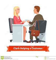 office clerk working customer stock vector image  office clerk working customer stock photography