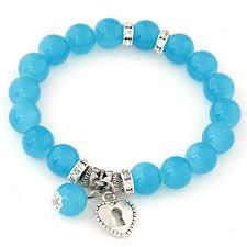 Cool summer OL lady easy match heart <b>unique</b> bracelet ( <b>blue</b> )