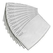 Buy 10/20/30/<b>50</b>/<b>100PCS</b> PM2.5 <b>Face Mask</b> Filter Activated Carbon ...