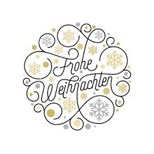 Frohe Weihnachten German Merry Christmas calligraphy lettering ...