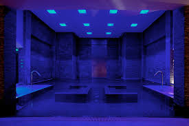indoor swimming pool with built in lounge chair and led ceiling excerpt designs design pool amazing indoor pool lighting