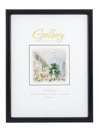 <b>Рамка</b> Gallery 40x50 прямой глубокий багет, черная Gallery ...