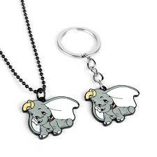 <b>Anime</b> Cartoon <b>Dumbo</b> Necklace Cute Enamel Metal Pendant gray ...
