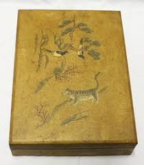 korean antique box with tiger and magpies amazoncom oriental furniture korean antique style liquor