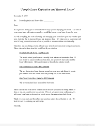 sample lease expiration and renewal letter printable forms business agreement sample letter