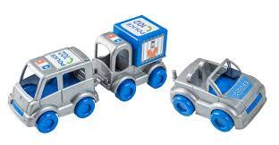 "<b>Набор</b> авто <b>Wader</b> ""Kid Cars"" <b>полиция</b> (бус, джип, контейнер ..."