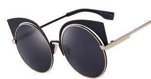 <b>MERRY'S</b> Fashion Women Cat Eye Sunglasses Round Alloy Frame ...