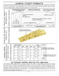 sample raffle ticket format