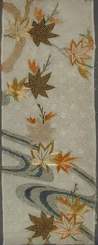 Fragment of a Kosode (Kimono) with Design of <b>Maple Leaves</b> and ...