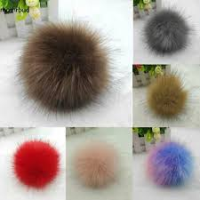 Chic 12CM DIY Faux <b>Rabbit</b> Fur <b>Pom Pom</b> Ball <b>Pompoms</b> Knitting ...