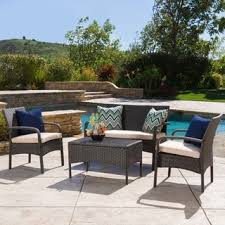 brown wicker outdoor furniture dresses: cordoba outdoor  piece wicker chat set with cushions by christopher knight home