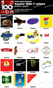 food logos 7 letters game solver food logos 7 letters