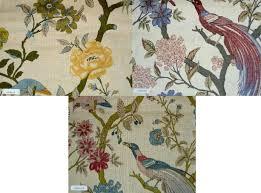 decor linen fabric multiuse: vienna flower linen floral print decorator fabric for multiuse home decor suitable for bedding