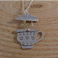 <b>Sterling Silver</b> and Brass Storm In A <b>Teacup</b> Necklace: Amazon.co ...