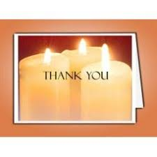 Image result for picture of thank you cards with a candle