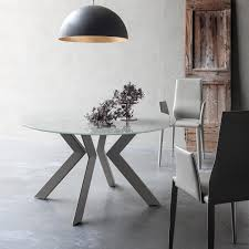 round glass extendable dining table: round extending dining table with metal grey or white legs and extra w at my italian living ltd