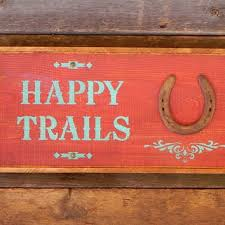 western home decor horseshoe framed table photos happy trails sign western home decor country signs horse decor rustic