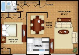 Northwest DC Apartments   Floor Plans   MassachusettsOne Bedroom Apartment Mass Avenue Floor Plan
