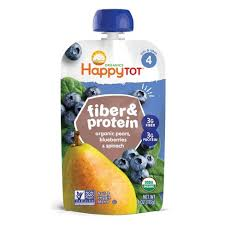 <b>Happy Tot Fiber & Protein</b> Organic Pears Blueberries Spinach - 4oz ...