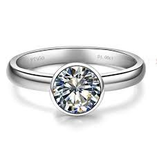 2018 <b>1ct</b> Lovely Round Brilliant <b>925 Sterling Silver</b> Engagement ...